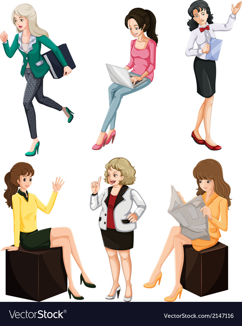 Busy women vector | Price: 3 Credit (USD $3)