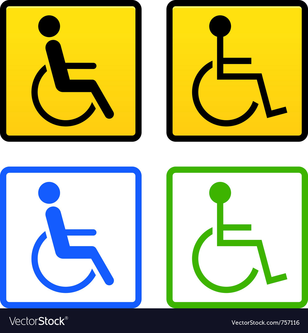 Disabled wheelchair sign vector | Price: 1 Credit (USD $1)