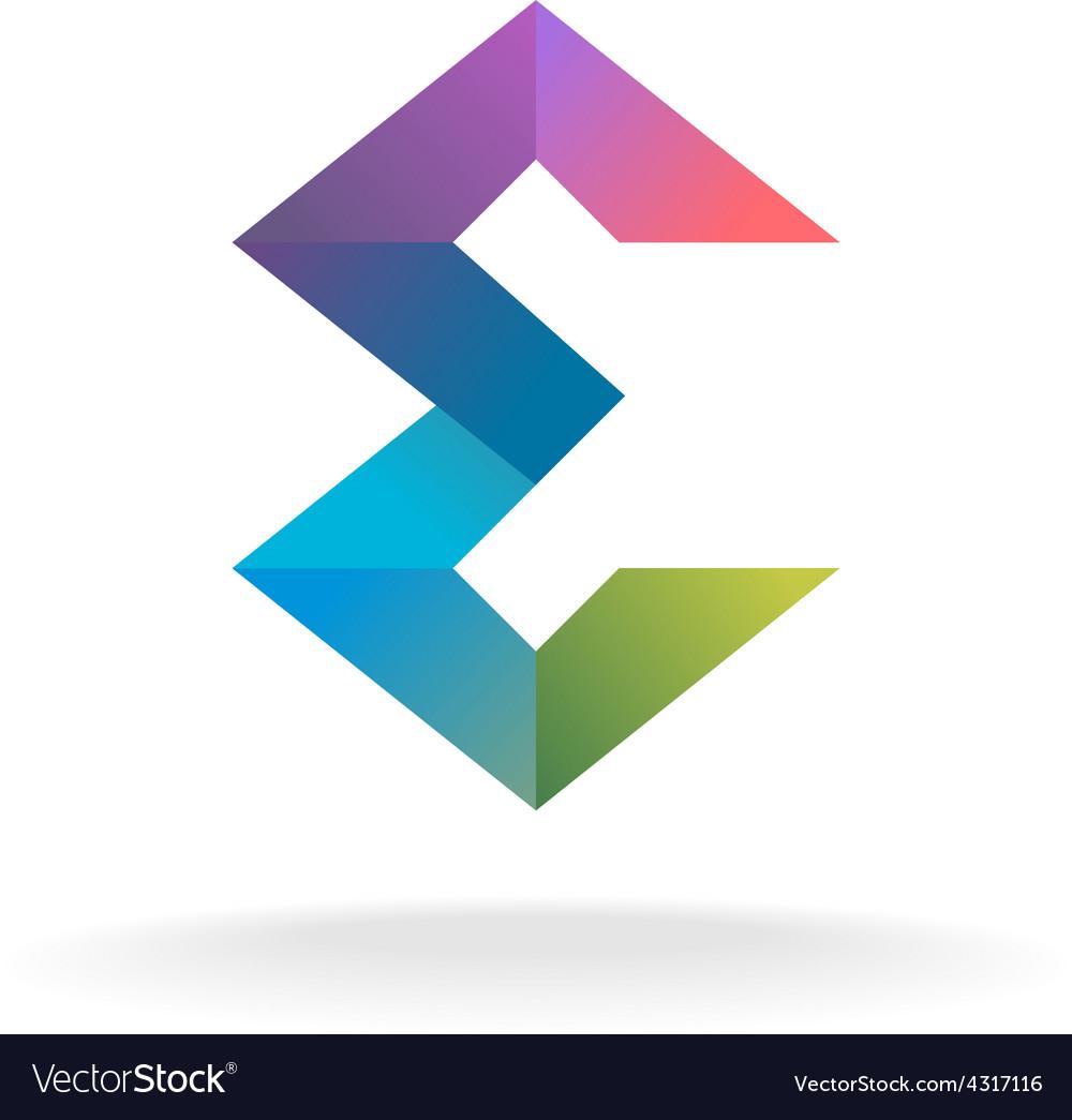 Letter e geometric logo vector   Price: 1 Credit (USD $1)