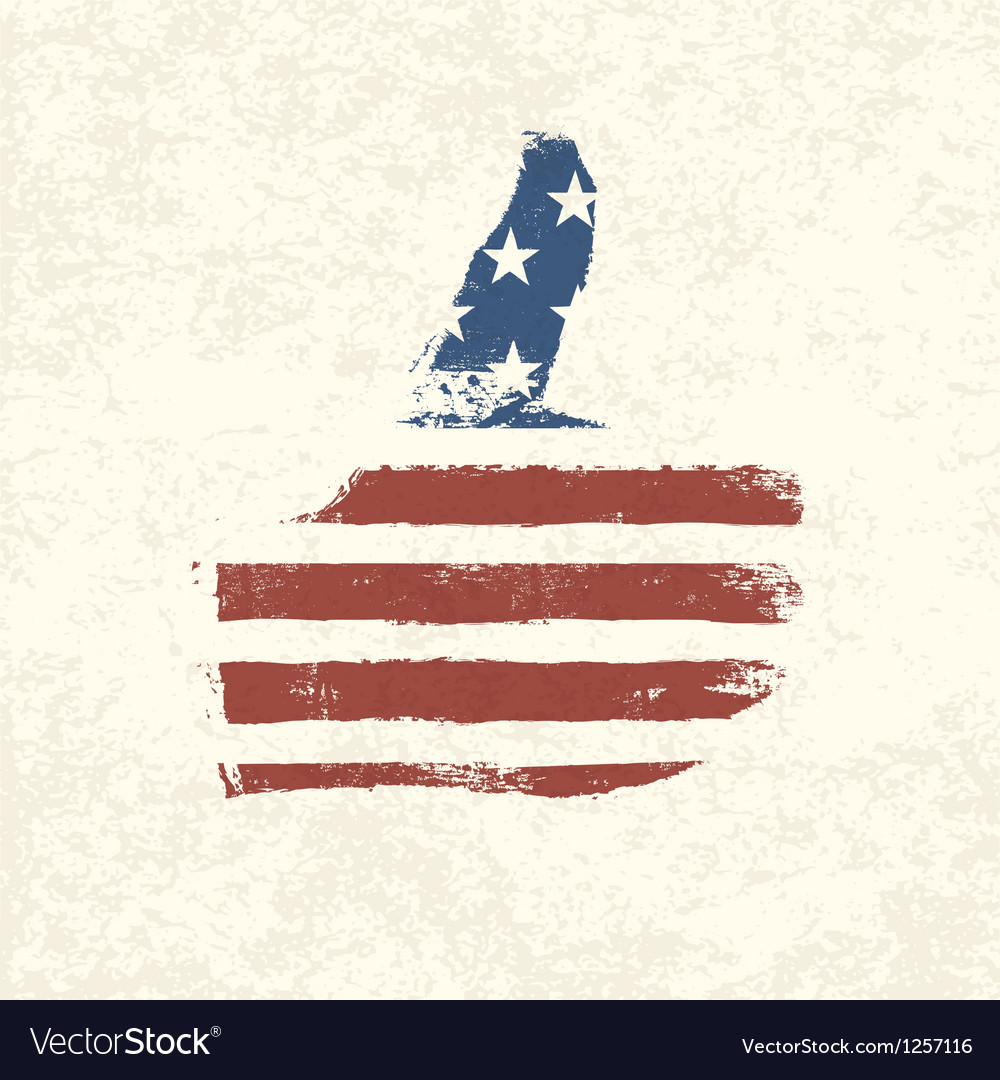 Like symbol american flag vector | Price: 1 Credit (USD $1)