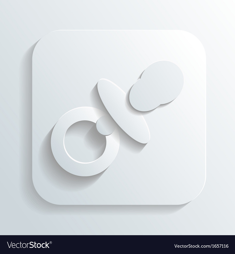 Pacifier icon vector | Price: 1 Credit (USD $1)