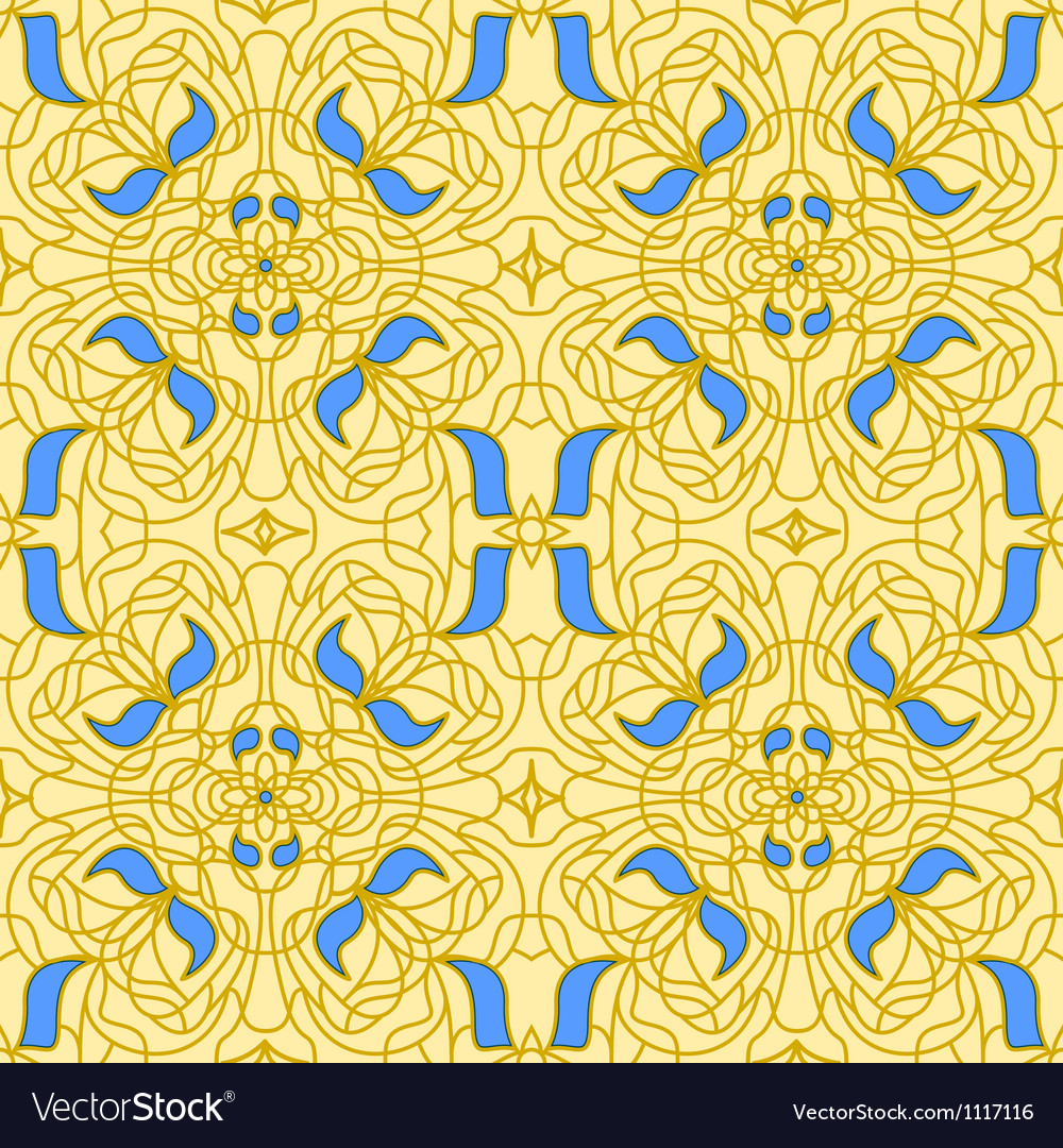 Seamless pattern art nouveau vector | Price: 1 Credit (USD $1)