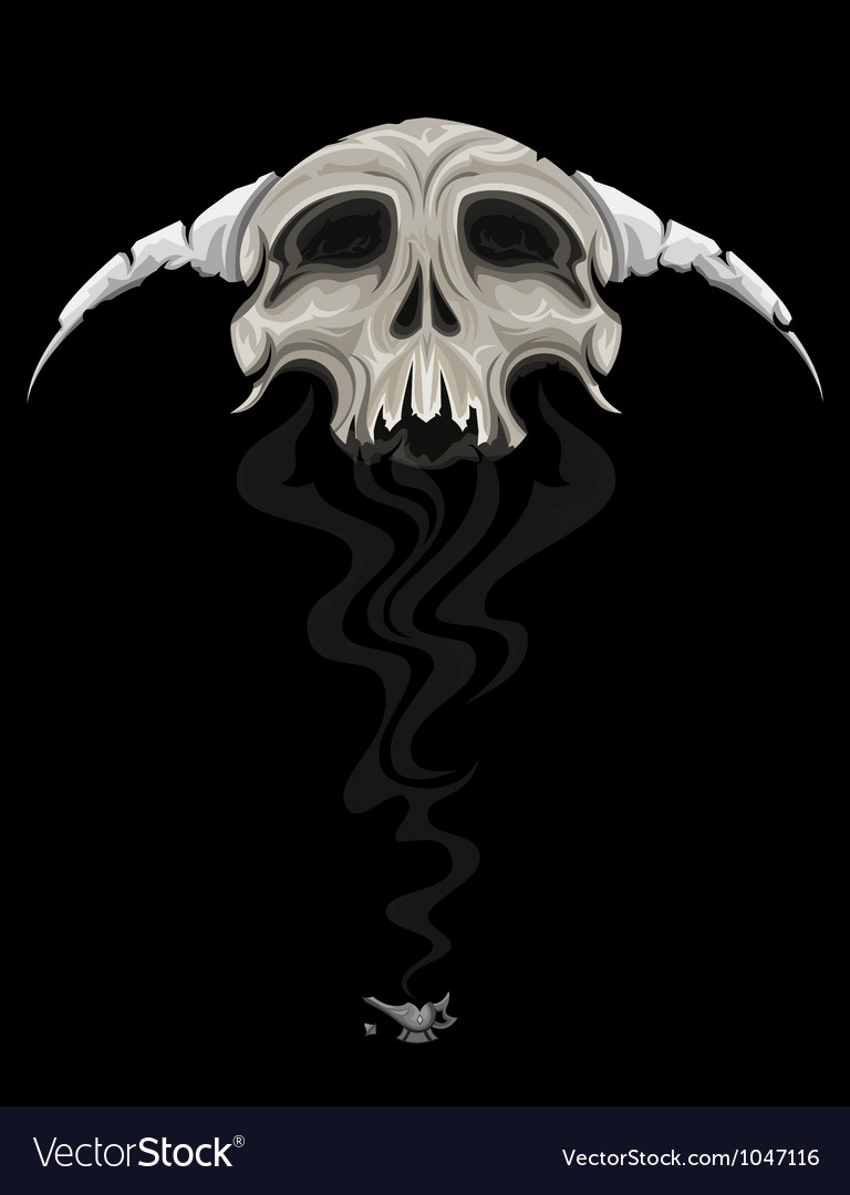 Skull genie vector | Price: 3 Credit (USD $3)