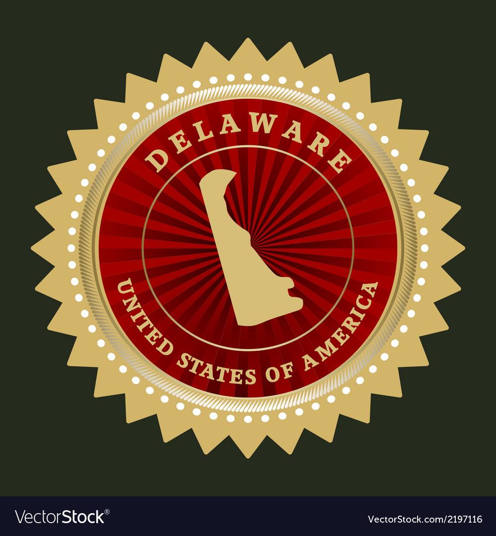 Star label delaware vector   Price: 1 Credit (USD $1)