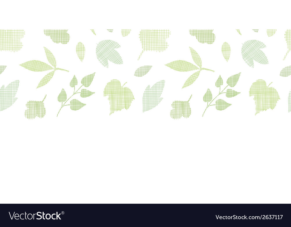 Abstract textile texture horizontal border vector | Price: 1 Credit (USD $1)