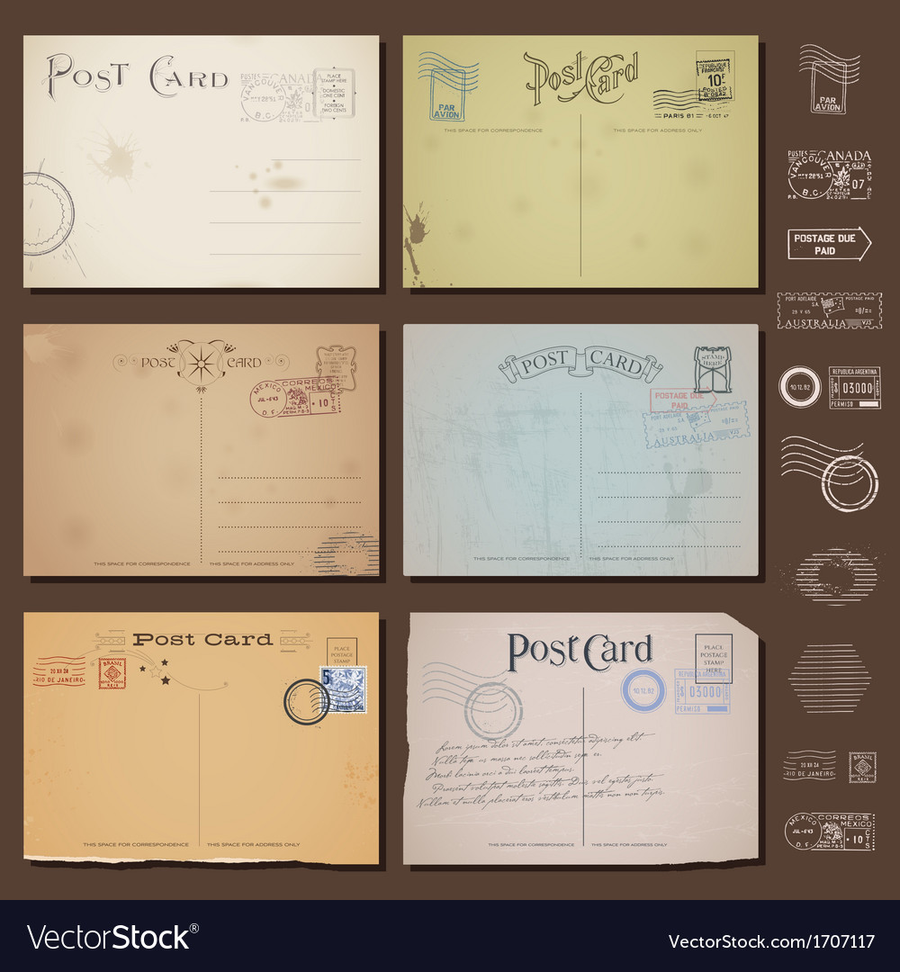 Antique postcards collection vol 1 vector | Price: 1 Credit (USD $1)