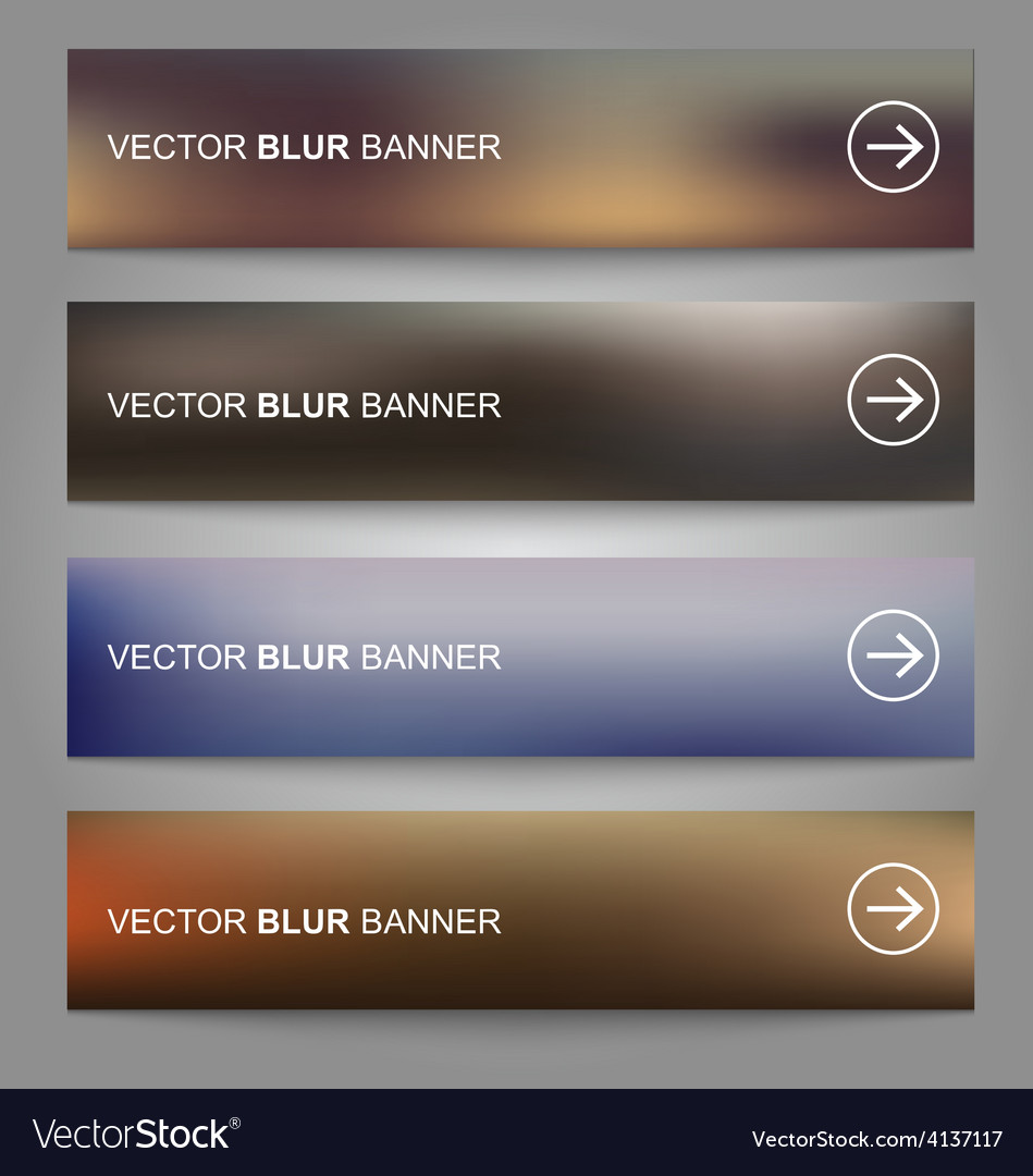 Blurred banners vector | Price: 1 Credit (USD $1)
