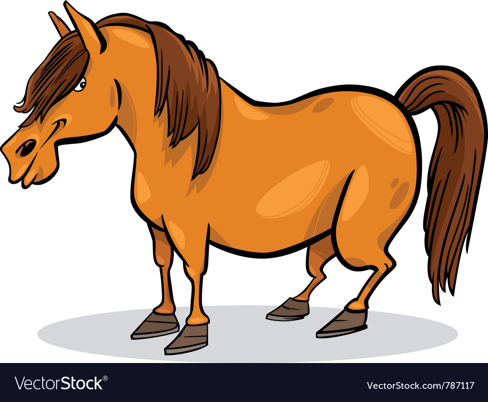 Cartoon pony horse vector | Price: 3 Credit (USD $3)