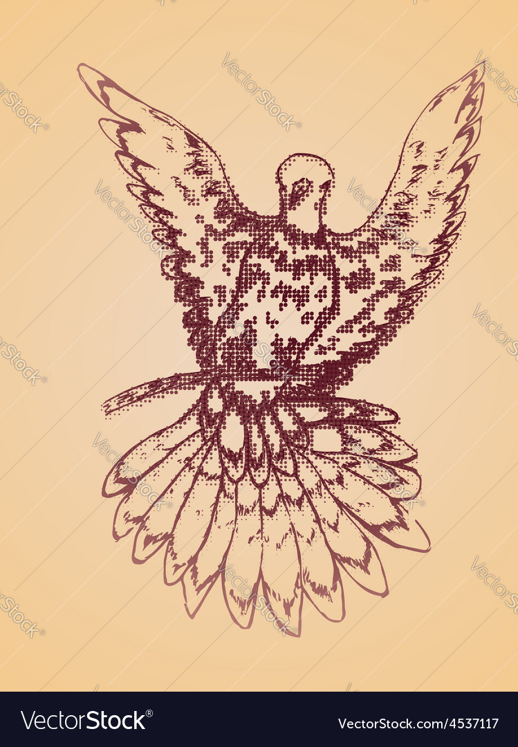 Dove sketch vector   Price: 1 Credit (USD $1)