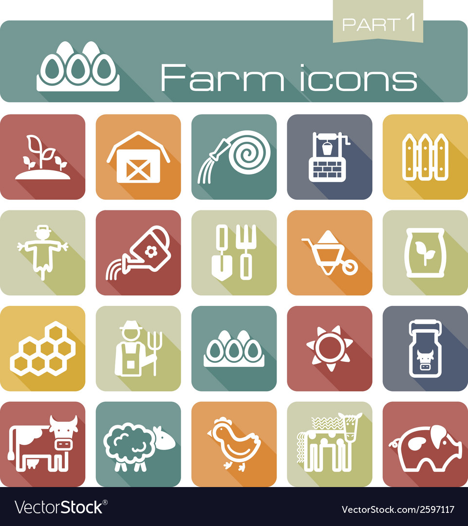 Farm icons part 1 vector   Price: 1 Credit (USD $1)
