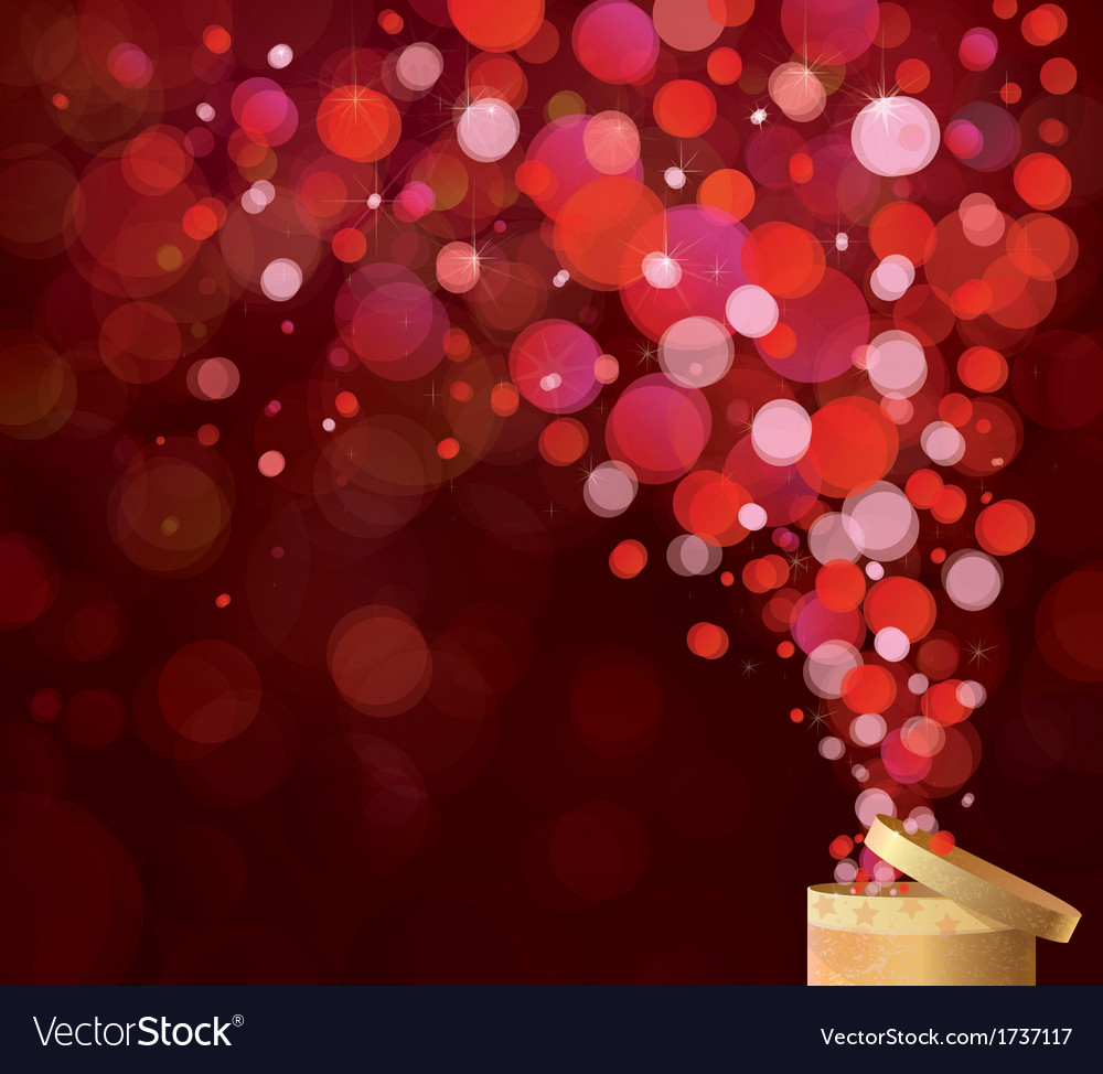 Gift red lights vector | Price: 1 Credit (USD $1)