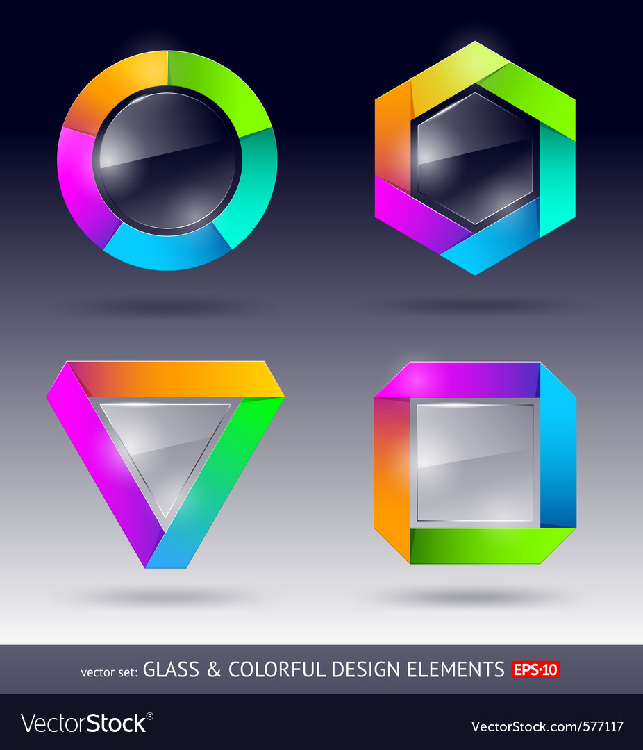 Glass design element vector | Price: 1 Credit (USD $1)
