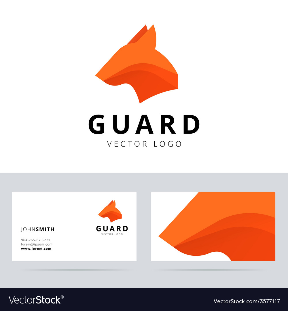 Guard logo template with dog head sign vector | Price: 1 Credit (USD $1)
