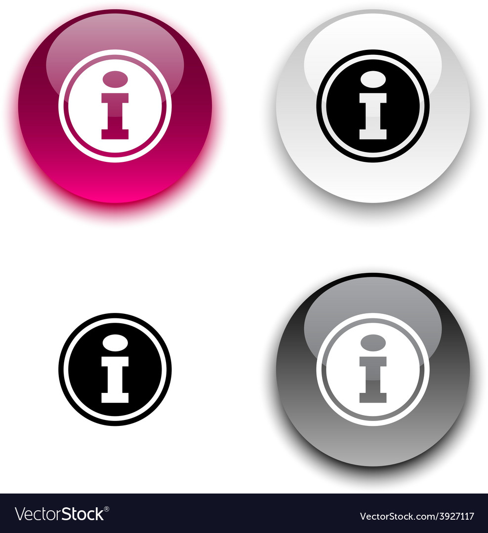 Info button vector | Price: 1 Credit (USD $1)