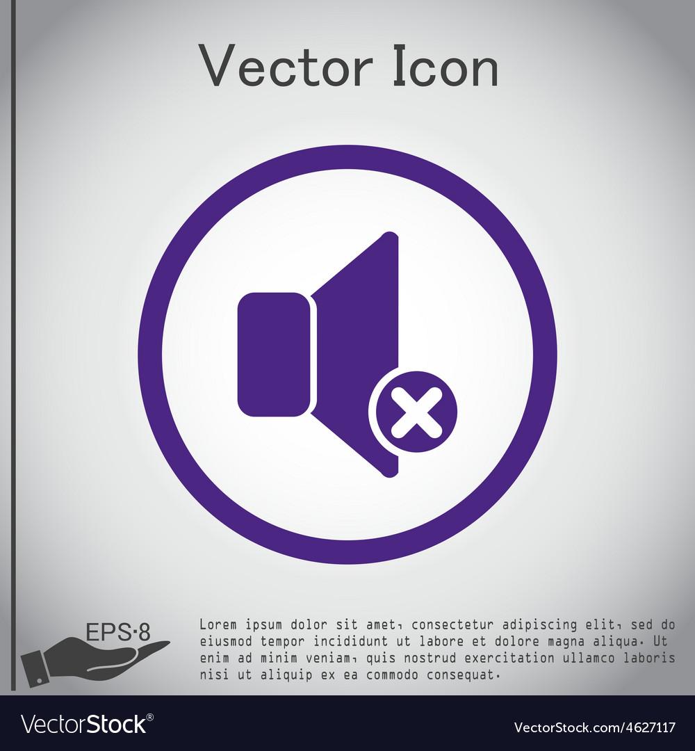 Loudspeaker volume icon sound icon vector | Price: 1 Credit (USD $1)