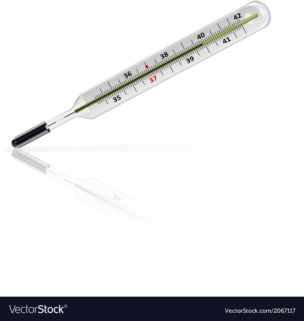 Medicine thermometer vector | Price: 1 Credit (USD $1)