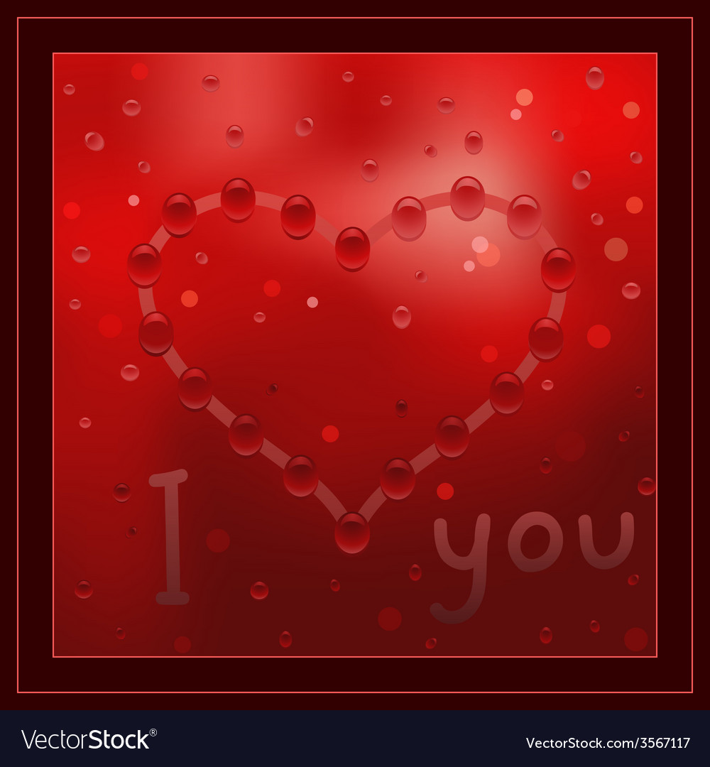 Painted heart on the window vector   Price: 1 Credit (USD $1)