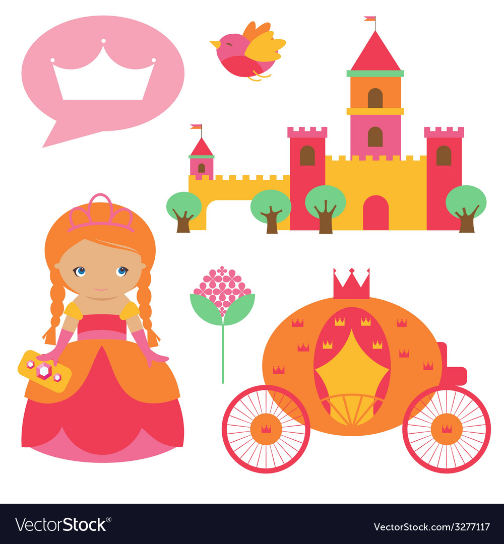 Princess clip art vector | Price: 1 Credit (USD $1)
