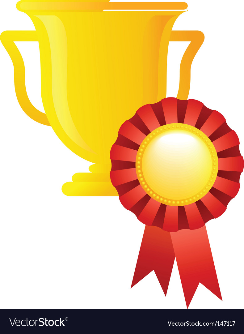 Sport award trophy vector | Price: 1 Credit (USD $1)