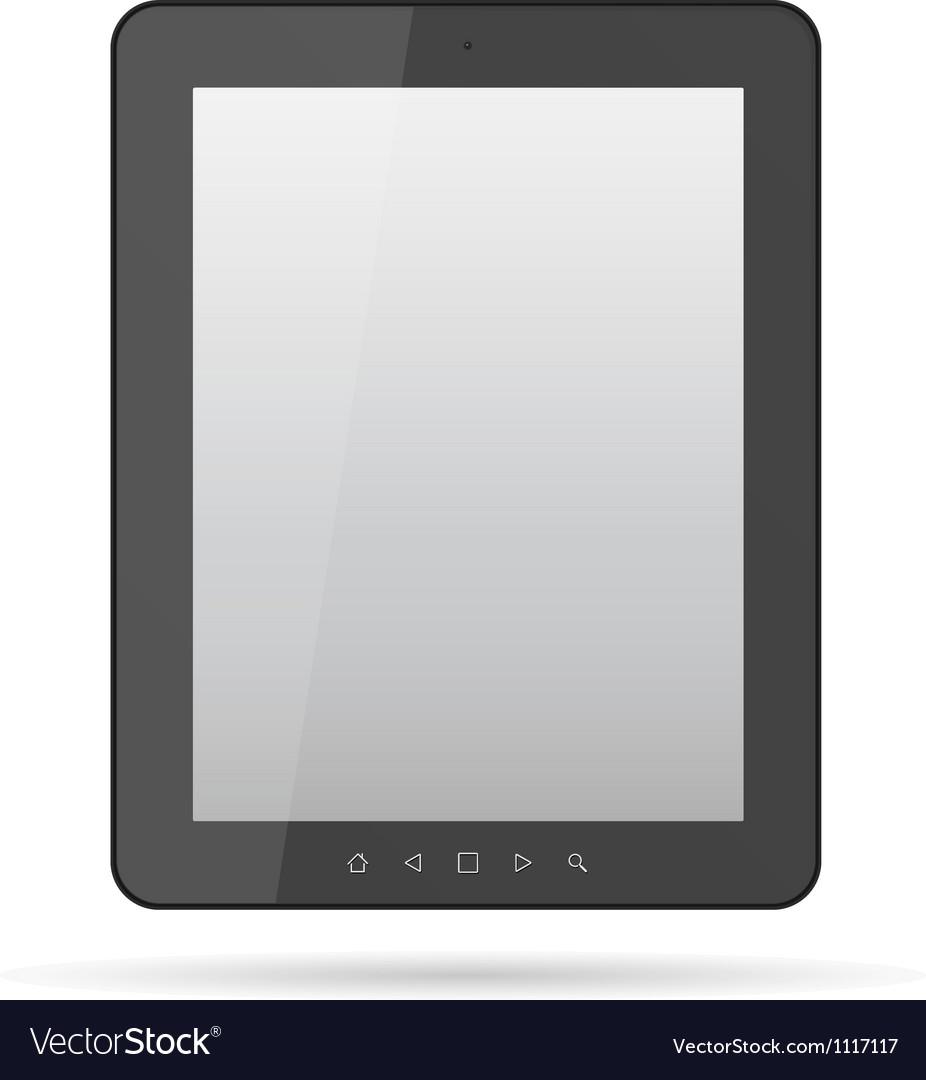 Tablet black computer vector | Price: 1 Credit (USD $1)
