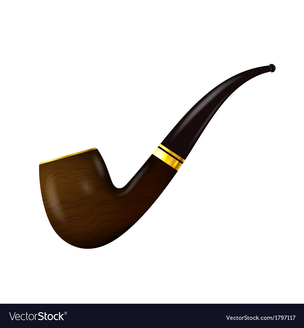 Tobacco pipe on a white background vector | Price: 1 Credit (USD $1)