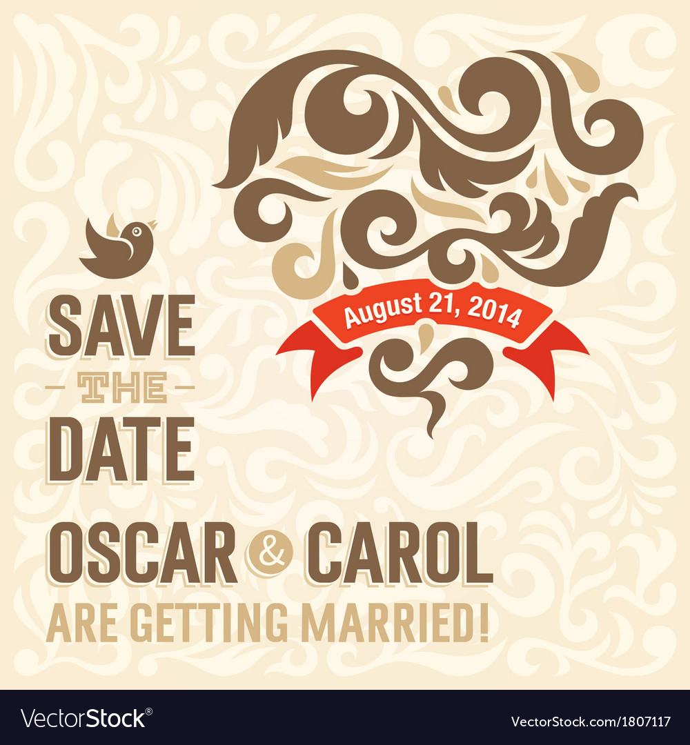 Wedding invitation 2 vector | Price: 1 Credit (USD $1)