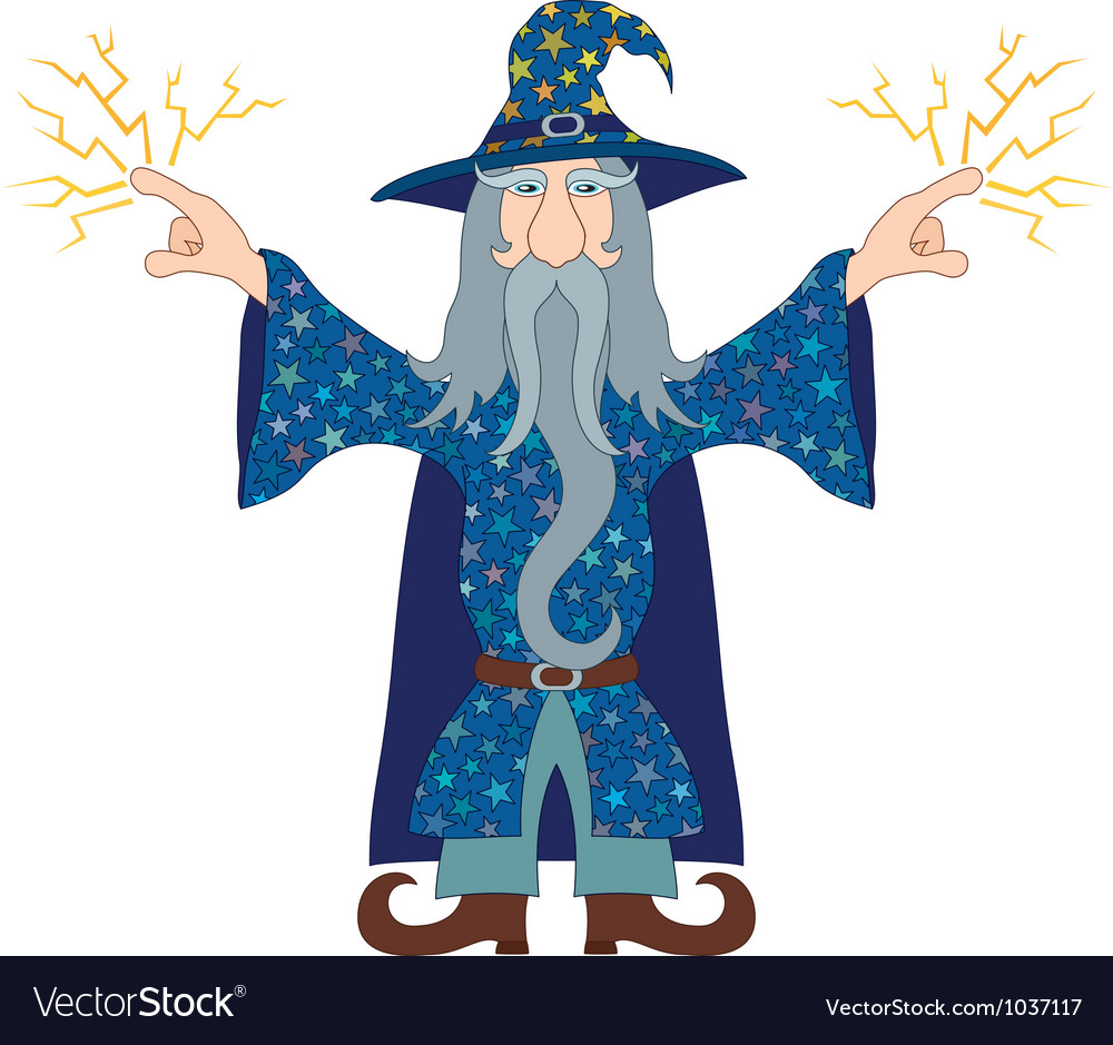 Wizard launches lightning vector | Price: 1 Credit (USD $1)
