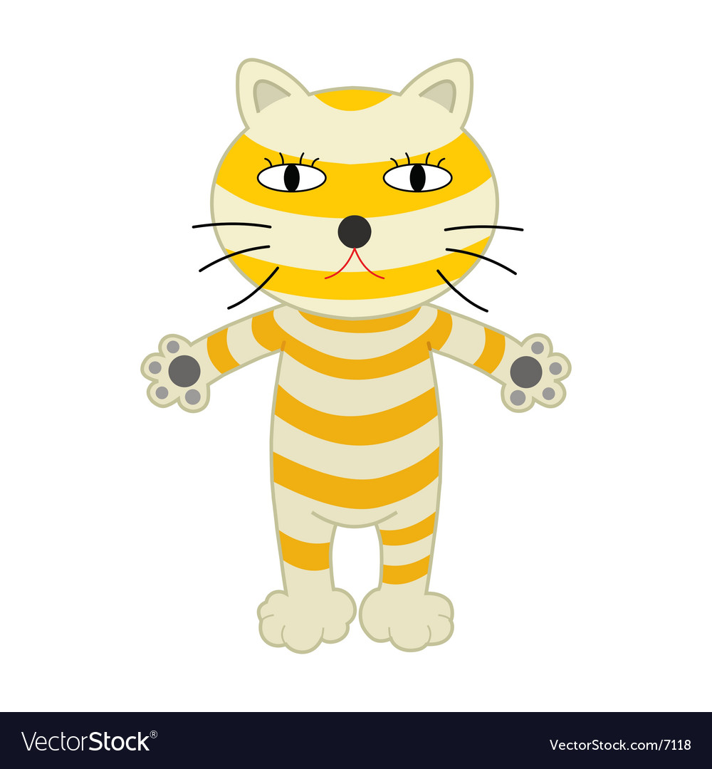 A cute s cat cartoon vector | Price: 1 Credit (USD $1)