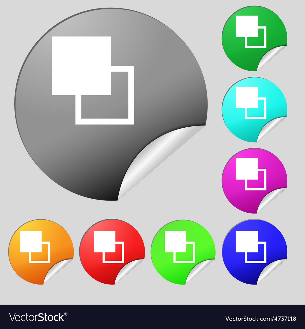 Active color toolbar icon sign set of eight vector   Price: 1 Credit (USD $1)