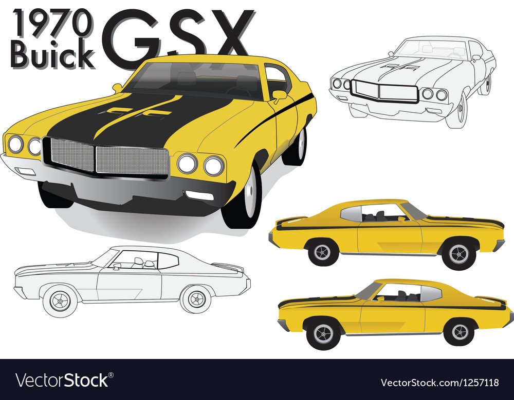 Buick gsx 70s model vector | Price: 3 Credit (USD $3)