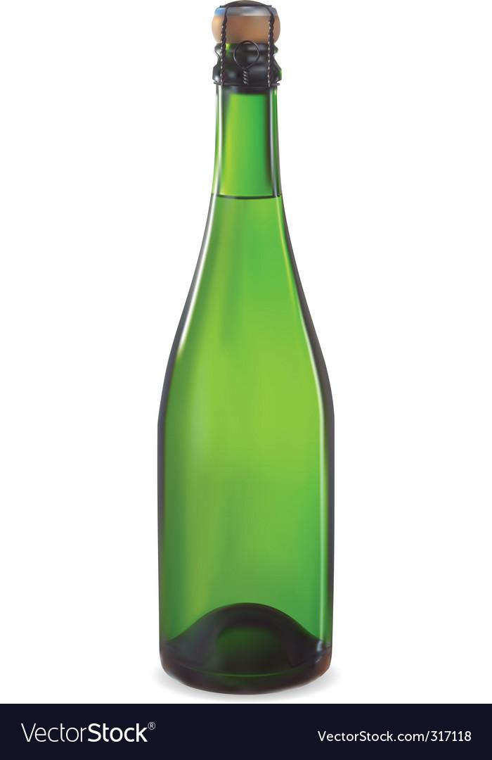 Champagne bottl vector | Price: 1 Credit (USD $1)
