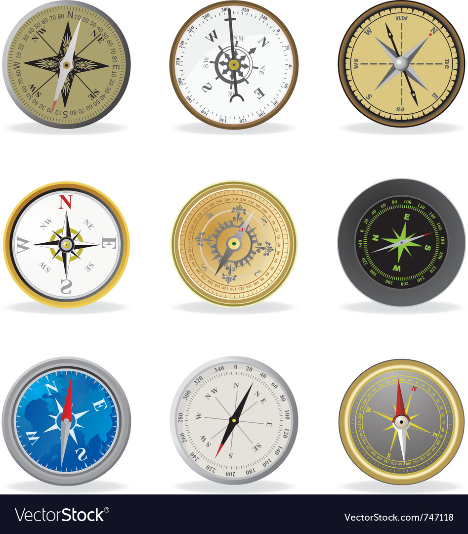 Compass set vector | Price: 1 Credit (USD $1)