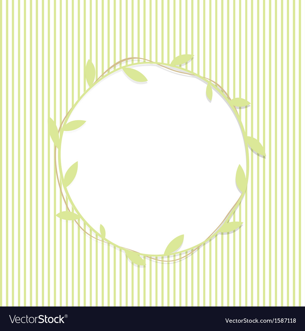 Green leaf round frame vector | Price: 1 Credit (USD $1)