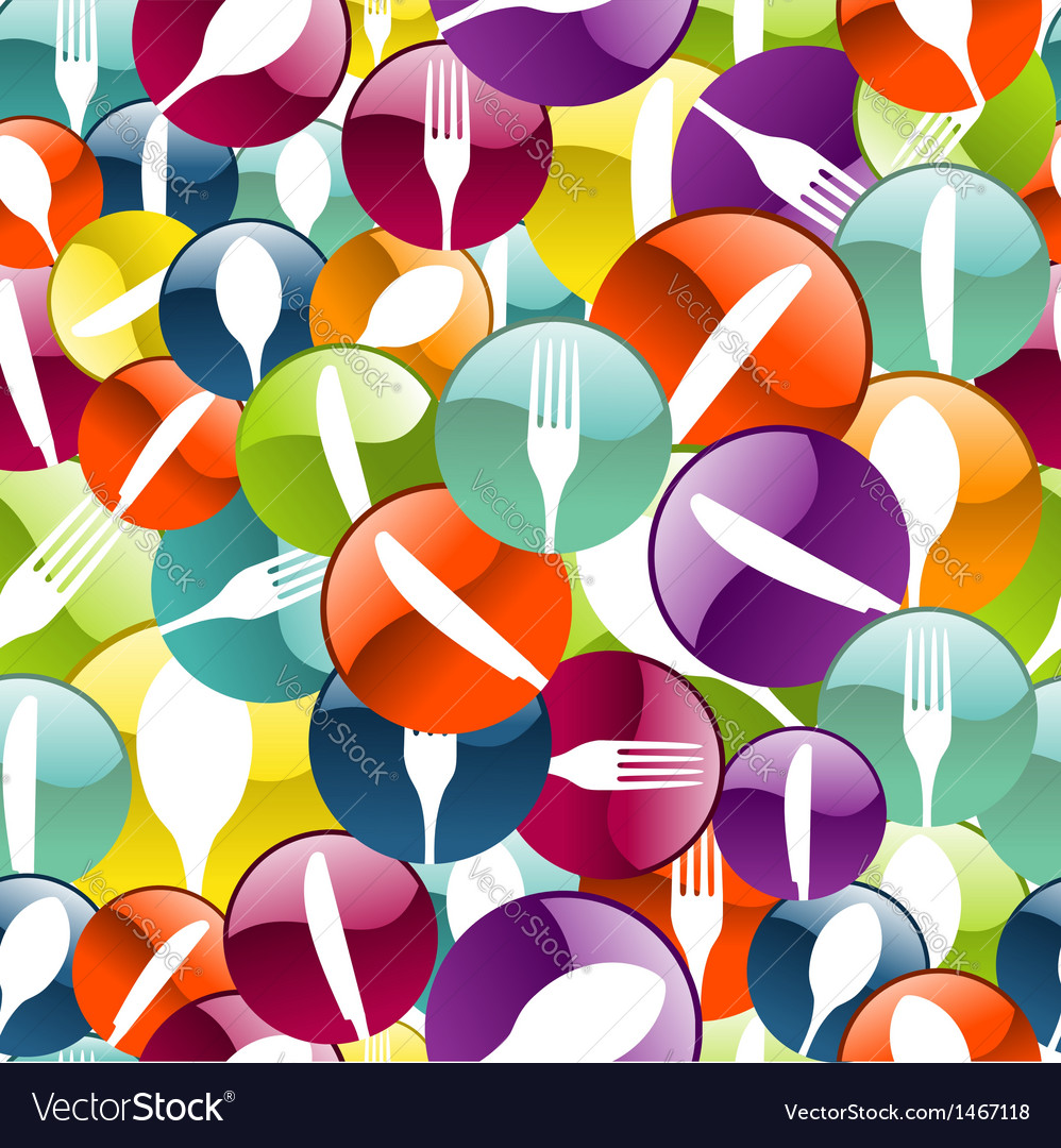 Restaurant icon pattern background vector | Price: 1 Credit (USD $1)