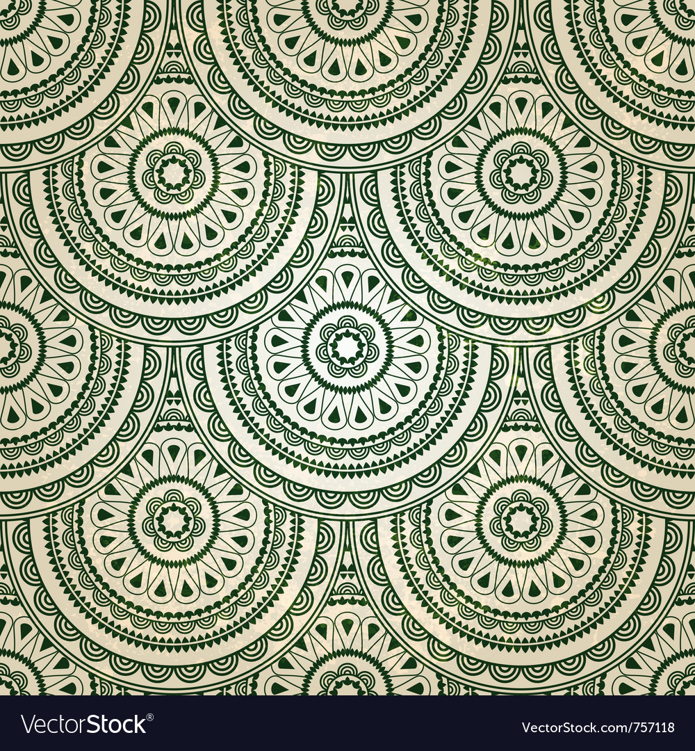 Seamless eastern floral vector   Price: 1 Credit (USD $1)
