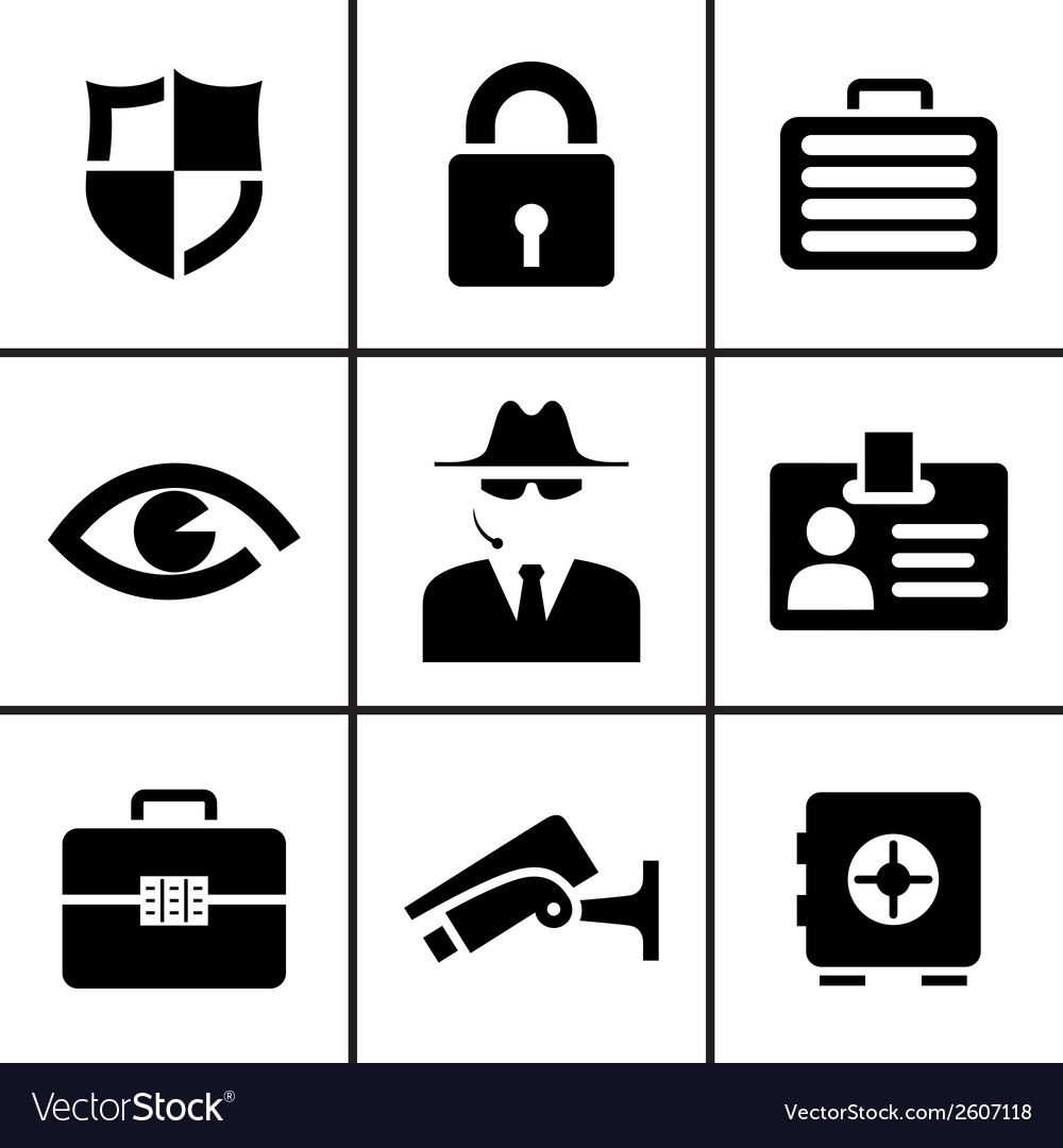 Security and safety icons set vector | Price: 1 Credit (USD $1)