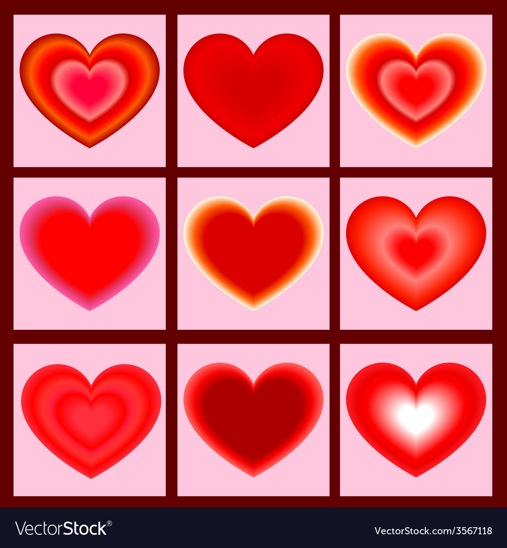 Set of icons heart vector   Price: 1 Credit (USD $1)