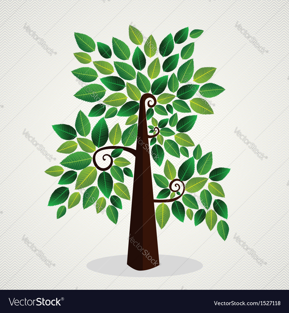 Sketchy green tree vector | Price: 1 Credit (USD $1)