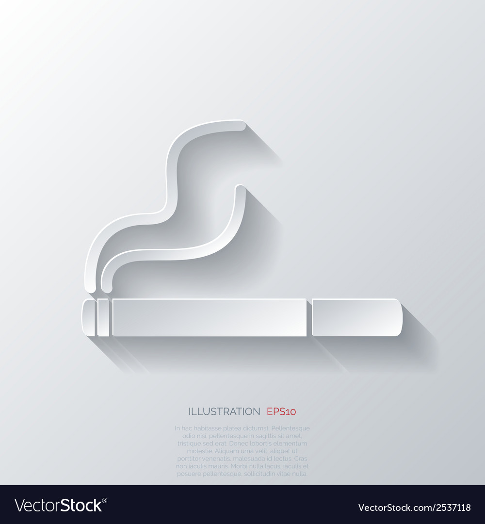 Smoking sign cigarette icon vector | Price: 1 Credit (USD $1)