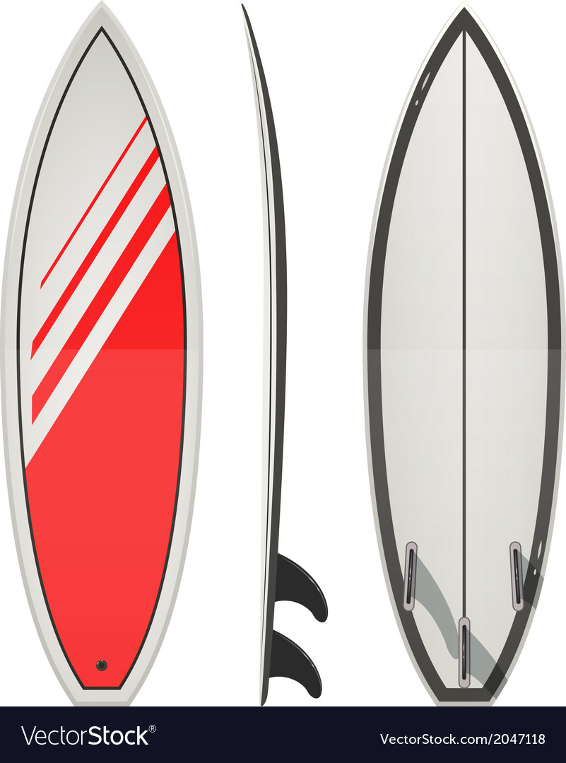 Surfing board vector | Price: 1 Credit (USD $1)