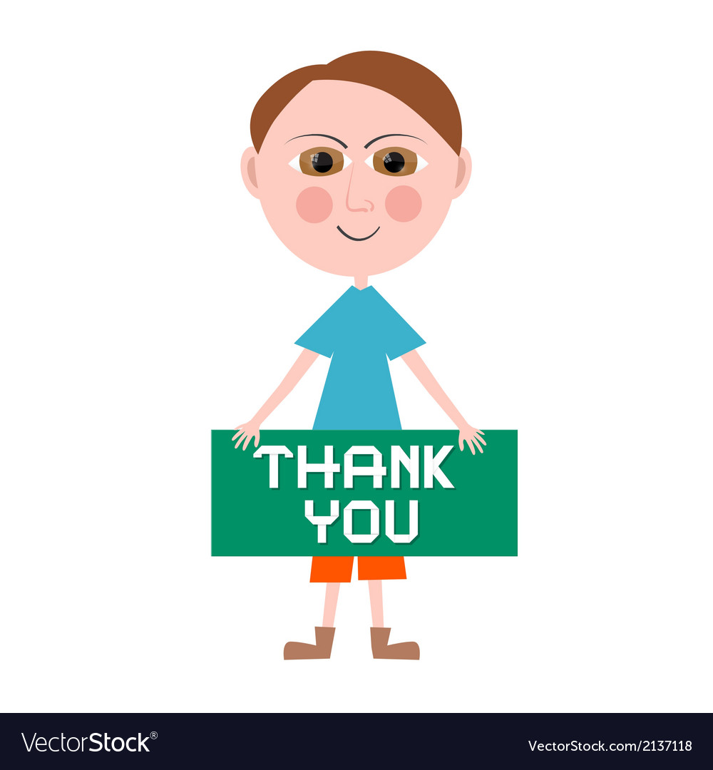 Thank you man vector | Price: 1 Credit (USD $1)