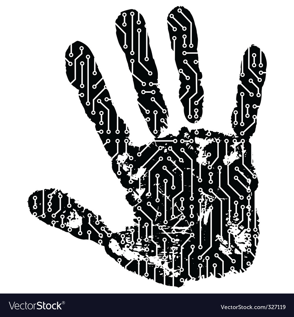 Abstract hand vector | Price: 1 Credit (USD $1)