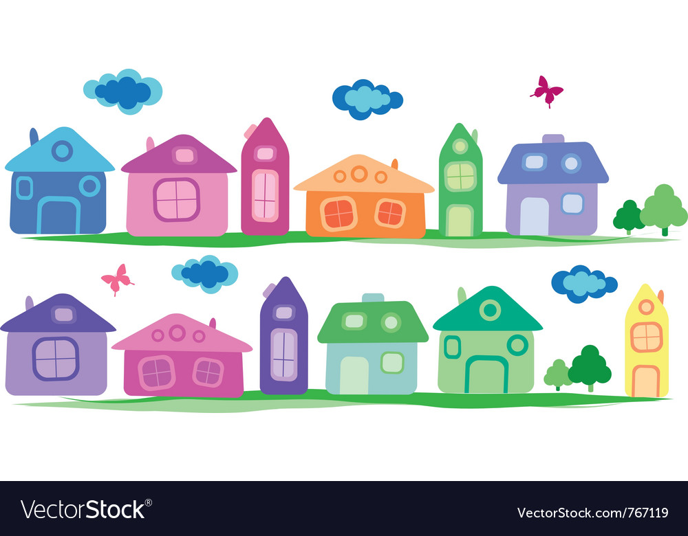 Cartoon village vector | Price: 1 Credit (USD $1)