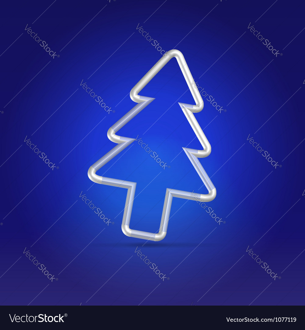 Christmas greetings blue postcard vector | Price:  Credit (USD $)