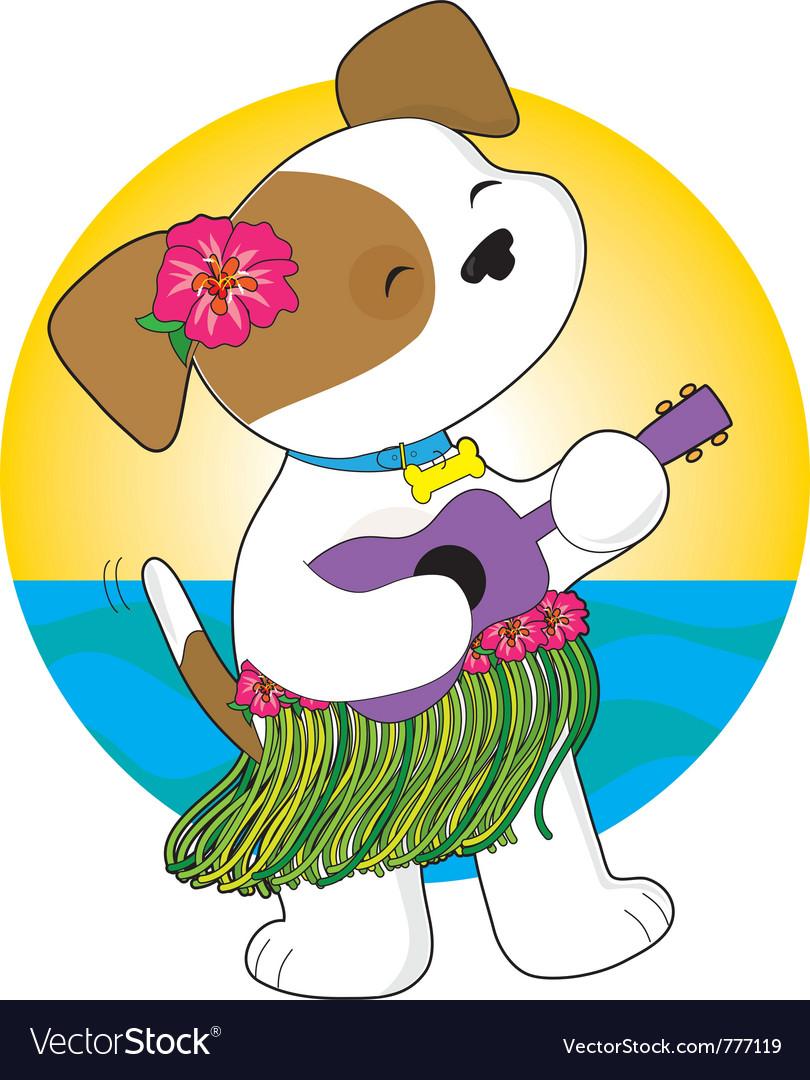 Cute puppy hawaii vector   Price: 1 Credit (USD $1)