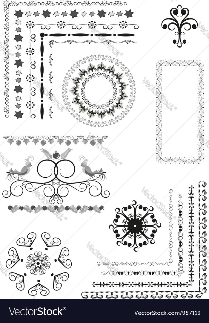Decorative border frame ornament vector | Price: 1 Credit (USD $1)