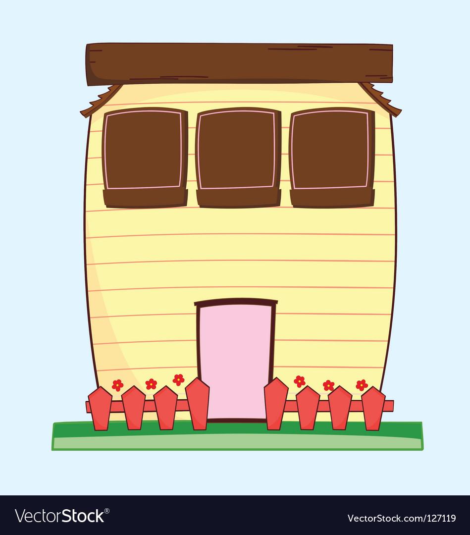 Happy house vector | Price: 1 Credit (USD $1)