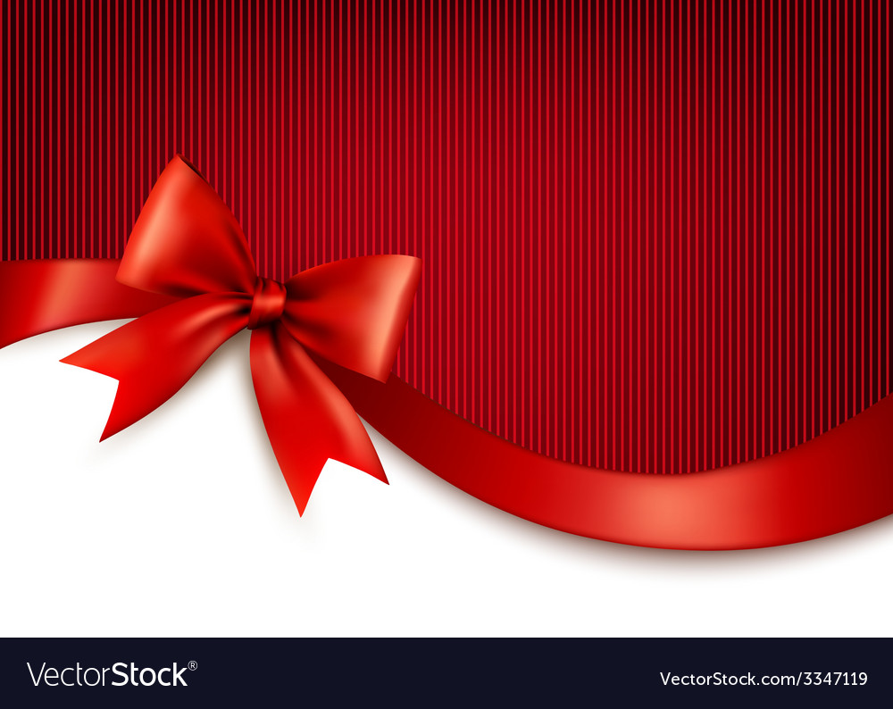 Holiday background with red gift glossy bow and vector | Price: 3 Credit (USD $3)