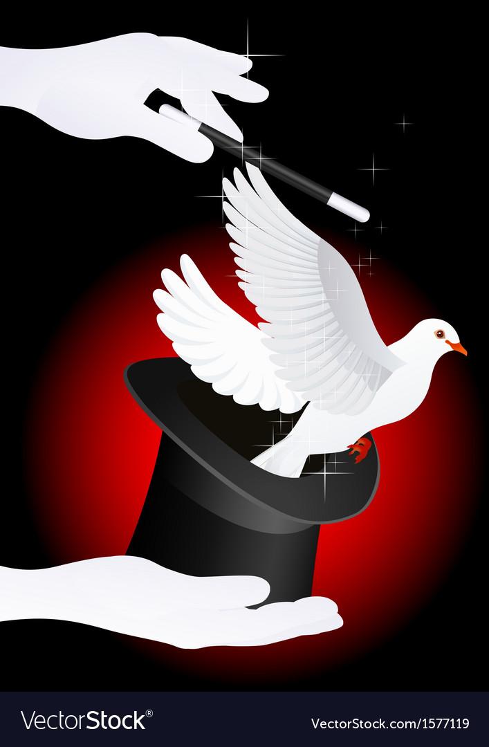 Magic dove vector | Price: 1 Credit (USD $1)