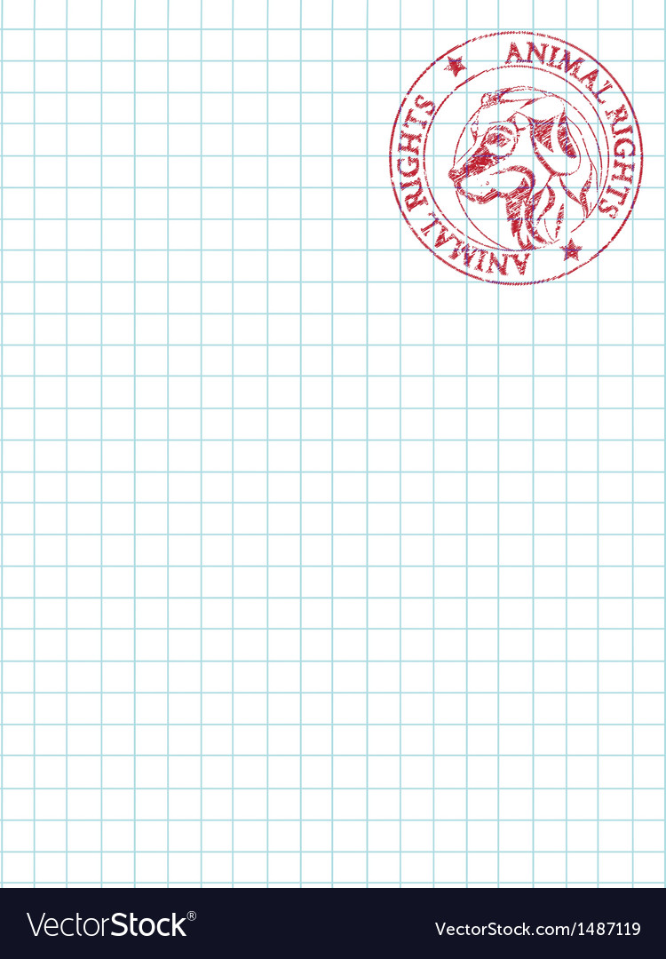 Math paper with stamp vector | Price: 1 Credit (USD $1)